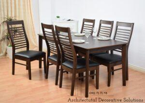 bàn ăn 6 ghế nâu