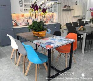 bàn ghế ăn laminate