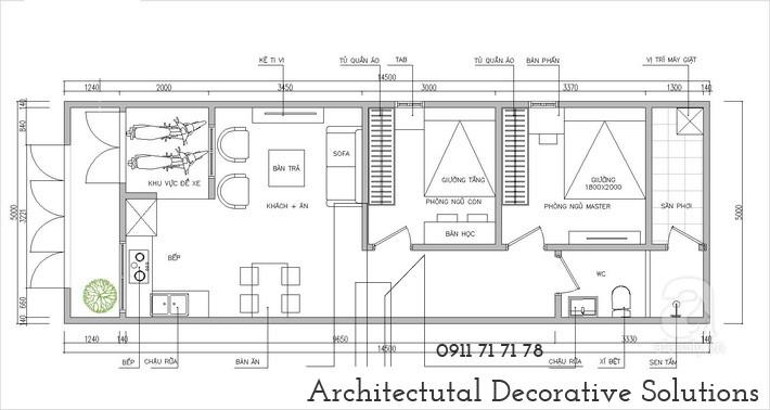 Thiết kế nhà cấp 4 đẹp đầy đủ tiện nghi