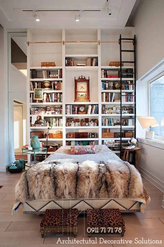 Ý tưởng thông minh trang trí giá sách đầu giường