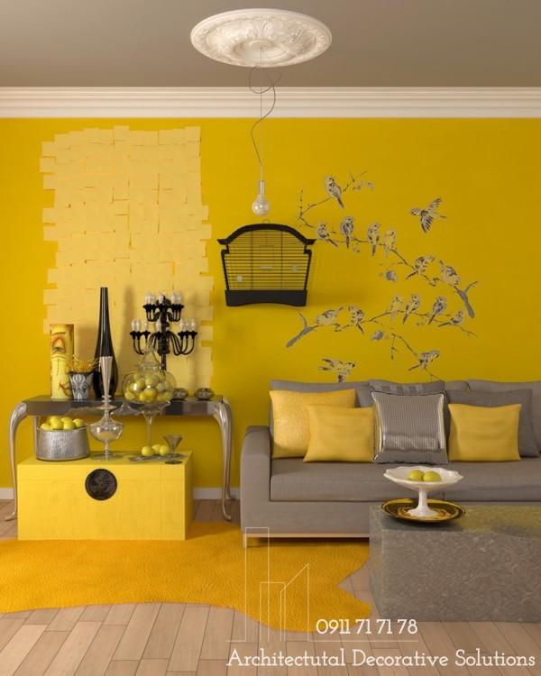 25 Phòng Khách Tươi Sáng Với Nội Thất Màu Vàng