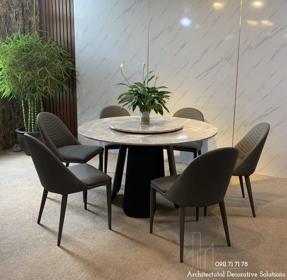 bộ bàn ăn tròn 6 ghế cao cấp