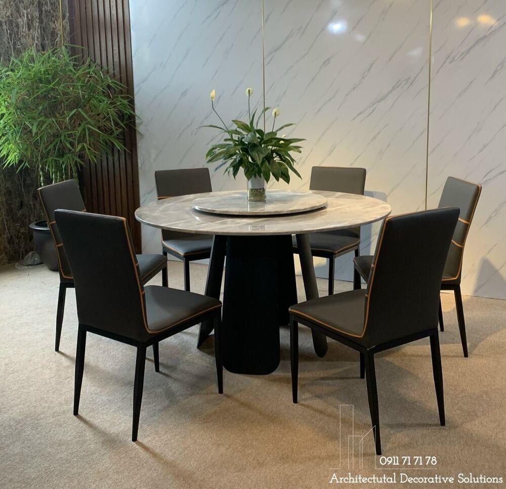bàn ăn hiện đại, bộ bàn ăn tròn 6 ghế