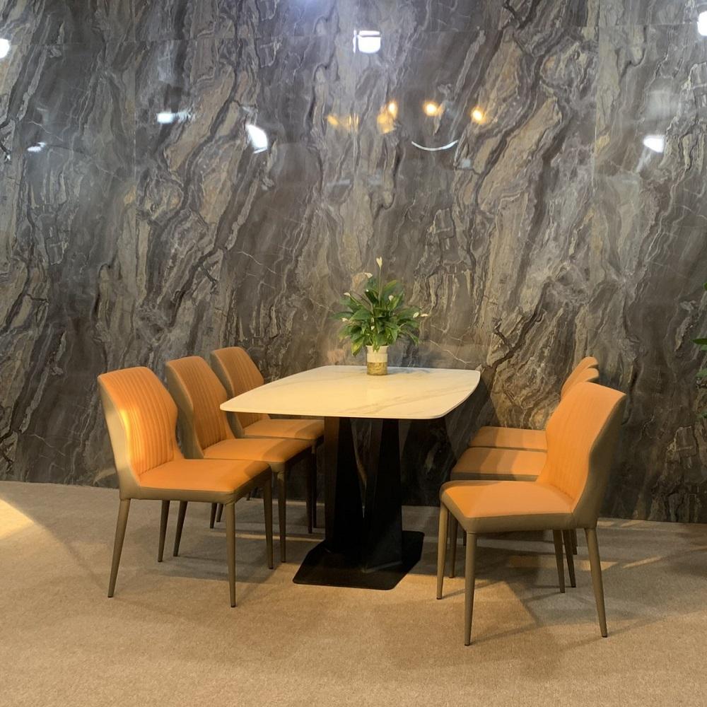 bàn ăn 6 ghế mặt đá cao cấp